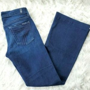 7 for all Mankind Dojo Jeans Dark Wash Flare 26